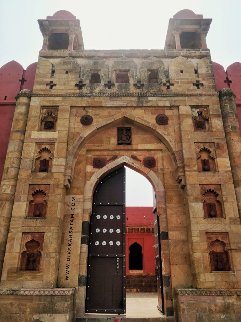 The main entrance gate of the fort is on its north-west side and still stands intact.